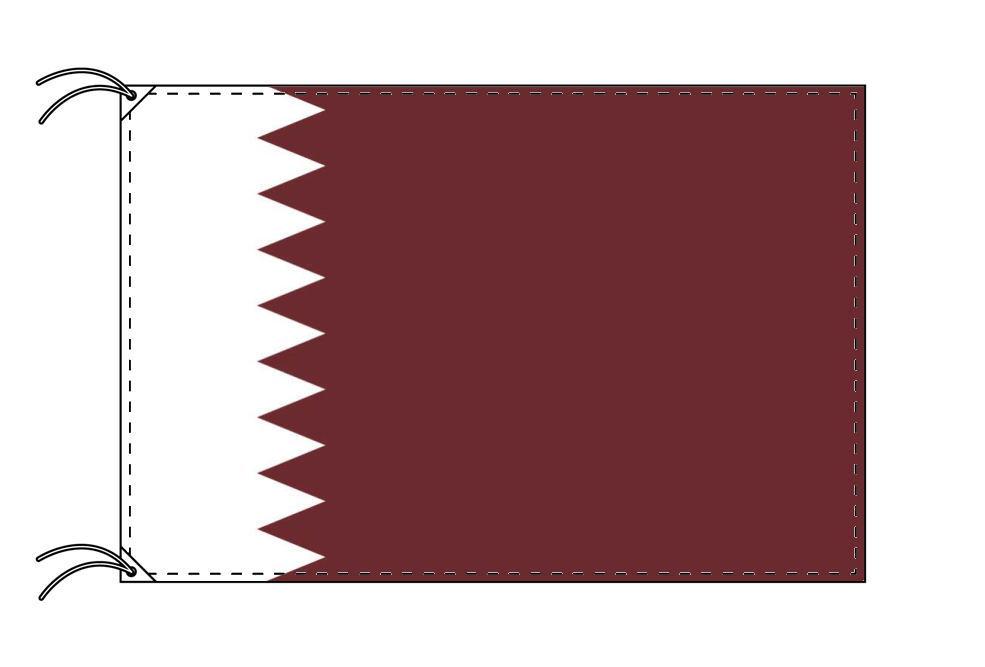 カタール・国旗セット[DX]【アルミ合金ポール・取付部品付・テトロン国旗 サイズ70×105cm】安心の日本製
