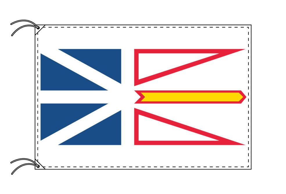 ニューファンドランド・ラブラドール州の旗 カナダの州旗 100×150cm テトロン製 日本製 世界各国の州旗シリーズ