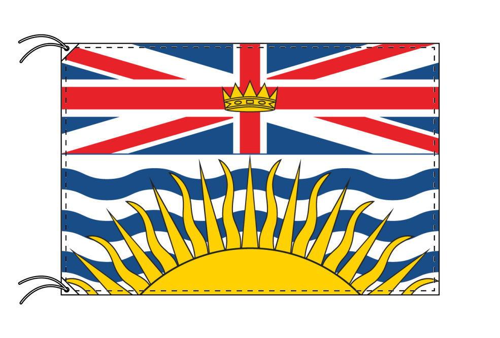 ブリティッシュコロンビア州の旗 カナダの州旗 100×150cm テトロン製 日本製 世界各国の州旗シリーズ