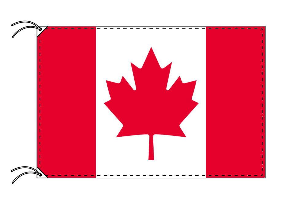 カナダ・国旗セット[DX]【アルミ合金ポール・取付部品付・テトロン国旗 サイズ70×105cm】安心の日本製
