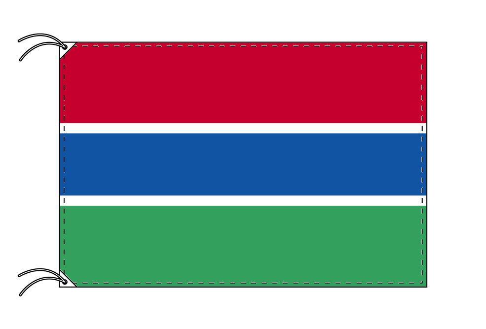 ガンビア・高級大型国旗セット(サイズ90×135cm・ポール・新型フロアスタンド付き)