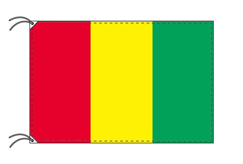 ギニア・高級大型国旗セット(サイズ90×135cm・ポール・新型フロアスタンド付き)