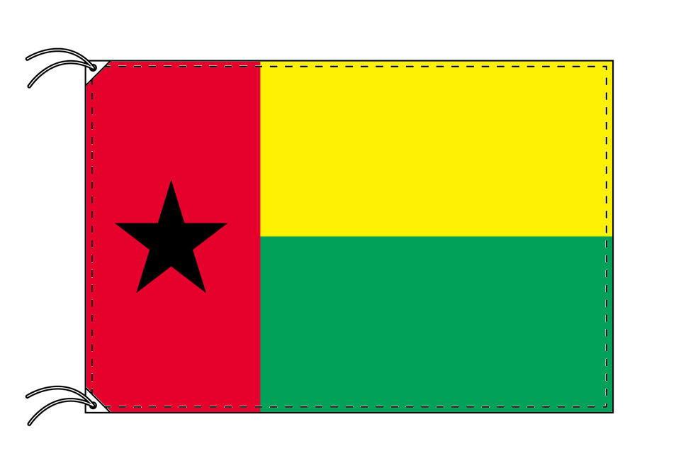 ギニアビサオ・国旗セット[DX]【アルミ合金ポール・取付部品付・テトロン国旗 サイズ70×105cm】安心の日本製