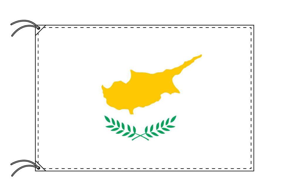 キプロス・高級国旗セット(国旗70×105cm・ポール・竿頭・新型フロアスタンド付き)