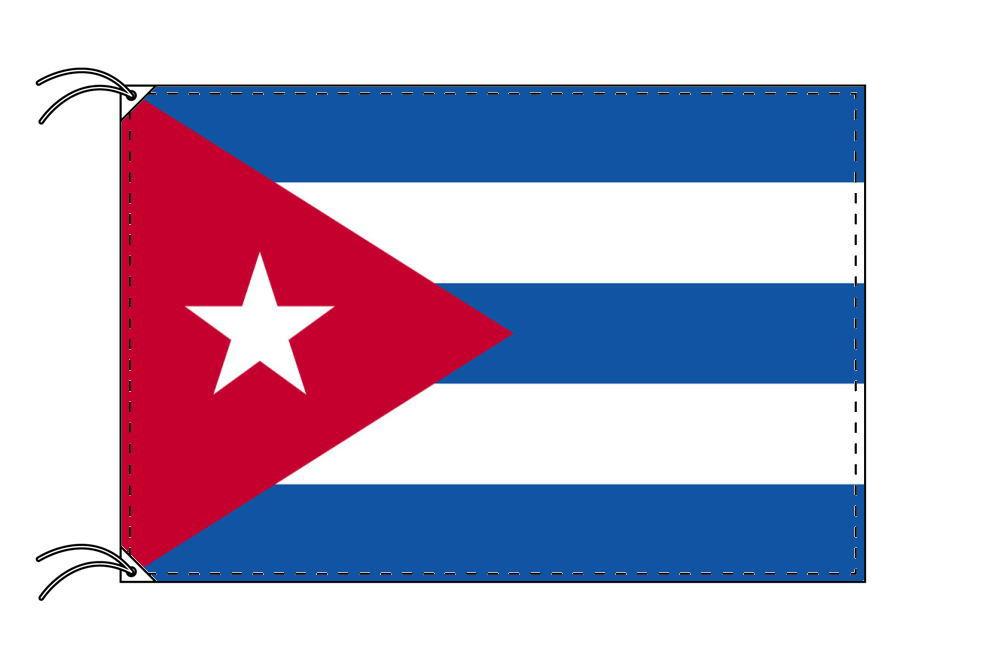世界の国旗 キューバ国旗[120×180cm・高級テトロン製]【smtb-u】