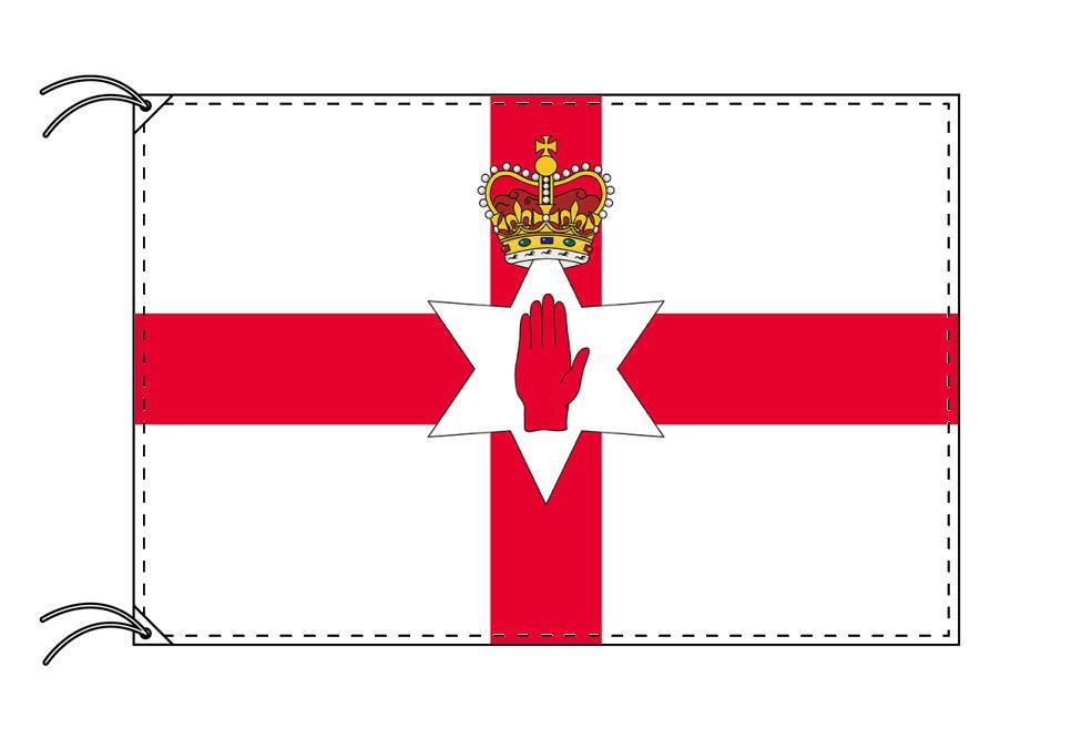 北アイルランド・高級国旗セット(国旗70×105cm・ポール・竿頭・新型フロアスタンド付き)