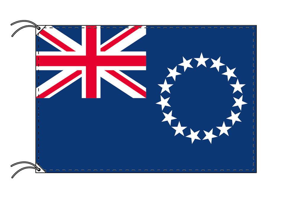 クック諸島 国旗セット[DX]【アルミ合金ポール・取付部品付・テトロン国旗 サイズ70×105cm】安心の日本製