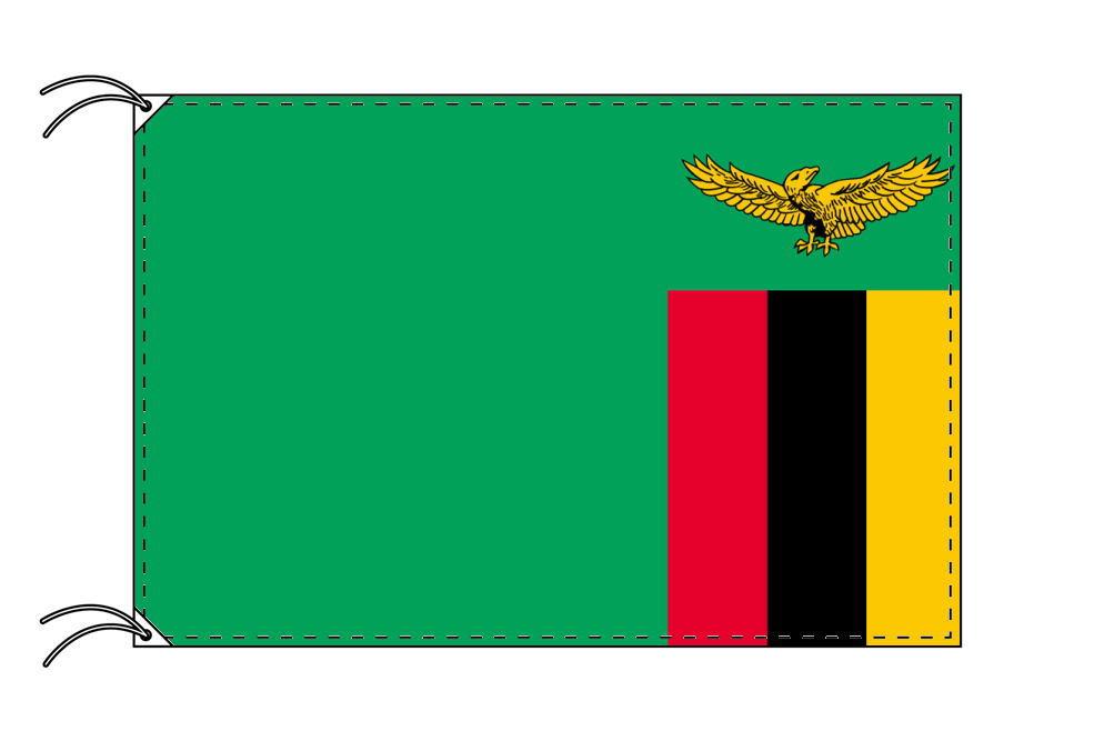 ザンビア・国旗セット[DX]【アルミ合金ポール・取付部品付・テトロン国旗 サイズ70×105cm】安心の日本製