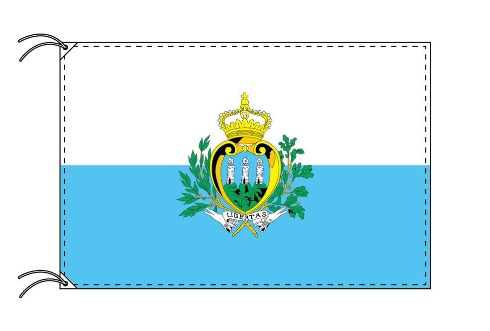 高級直立型スタンド 国旗セット サンマリノ国旗[90×135cm・高級テトロン製]【smtb-u】