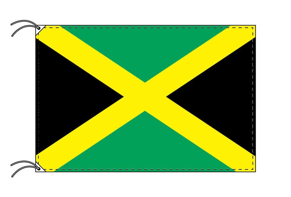 ジャマイカ・国旗セット[DX]【アルミ合金ポール・取付部品付・テトロン国旗 サイズ70×105cm】安心の日本製