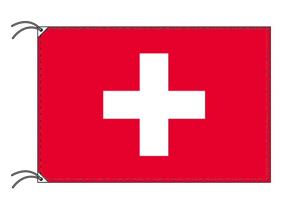 スイス・高級国旗セット(国旗70×105cm・ポール・竿頭・新型フロアスタンド付き)