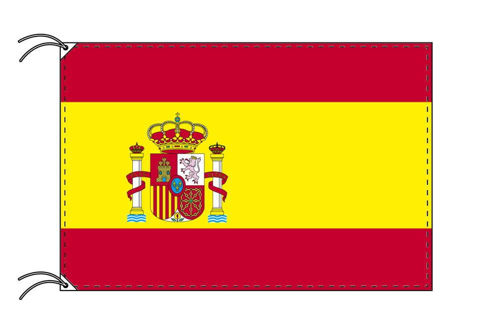 世界の国旗 スペイン[紋章入]・高級国旗セット【アルミ合金ポール・壁面取付部品付】【smtb-u】