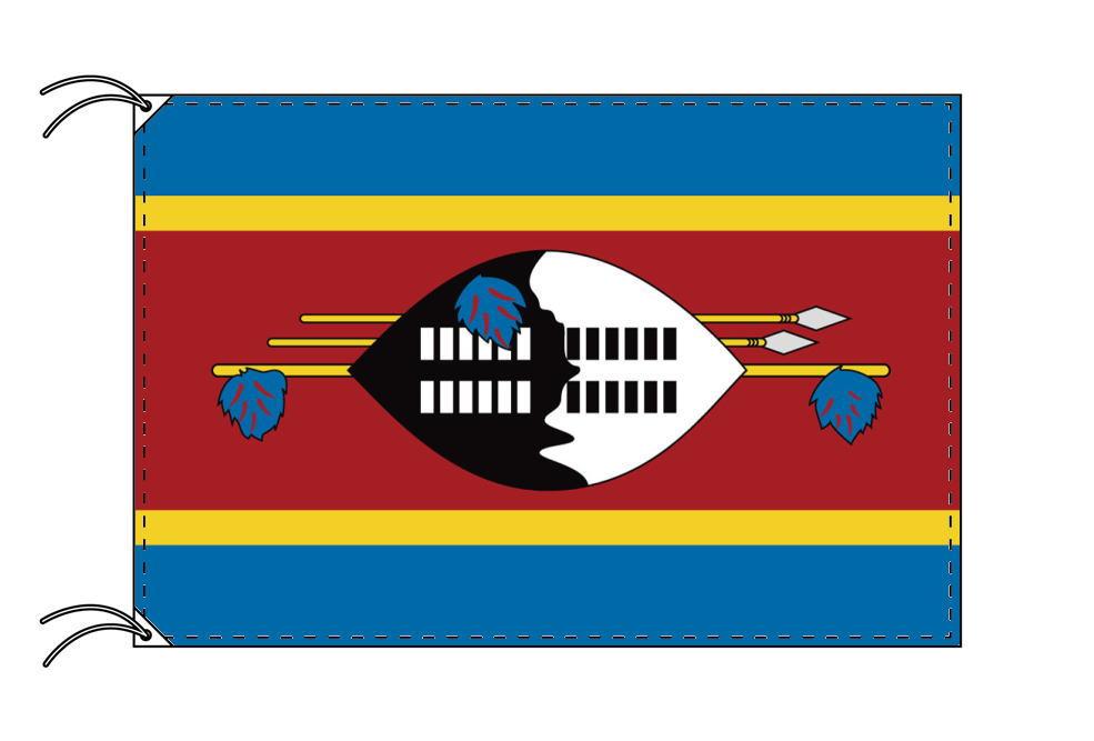 エスワティニ(スワジランド)・高級大型国旗セット(サイズ90×135cm・ポール・新型フロアスタンド付き)