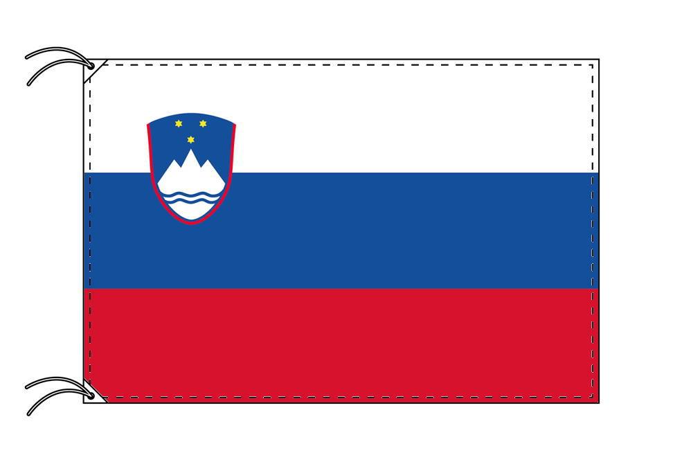 スロベニア・高級国旗セット(国旗70×105cm・ポール・竿頭・新型フロアスタンド付き)