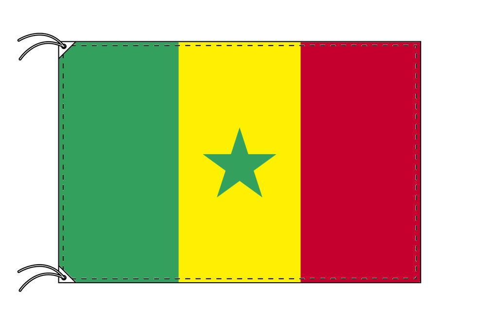 高級直立型スタンド 国旗セット セネガル国旗[90×135cm・高級テトロン製]【smtb-u】