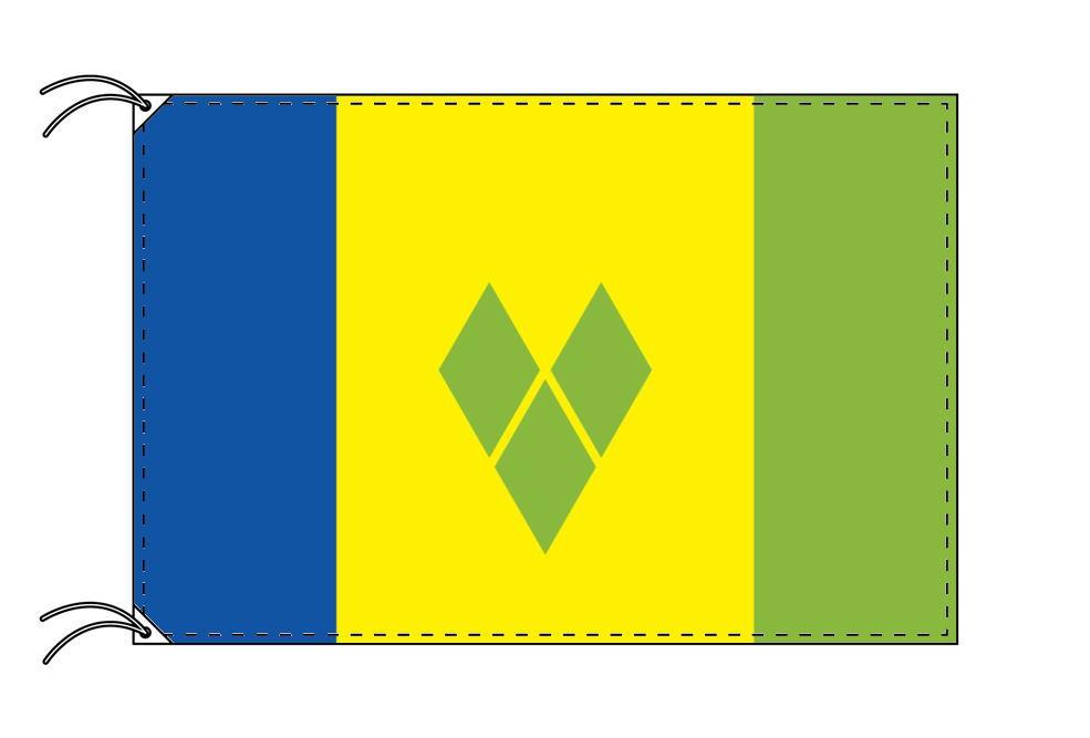 セントビンセント・グレナデイーン諸島・国旗セット[DX]【アルミ合金ポール・取付部品付・テトロン国旗 サイズ70×105cm】安心の日本製