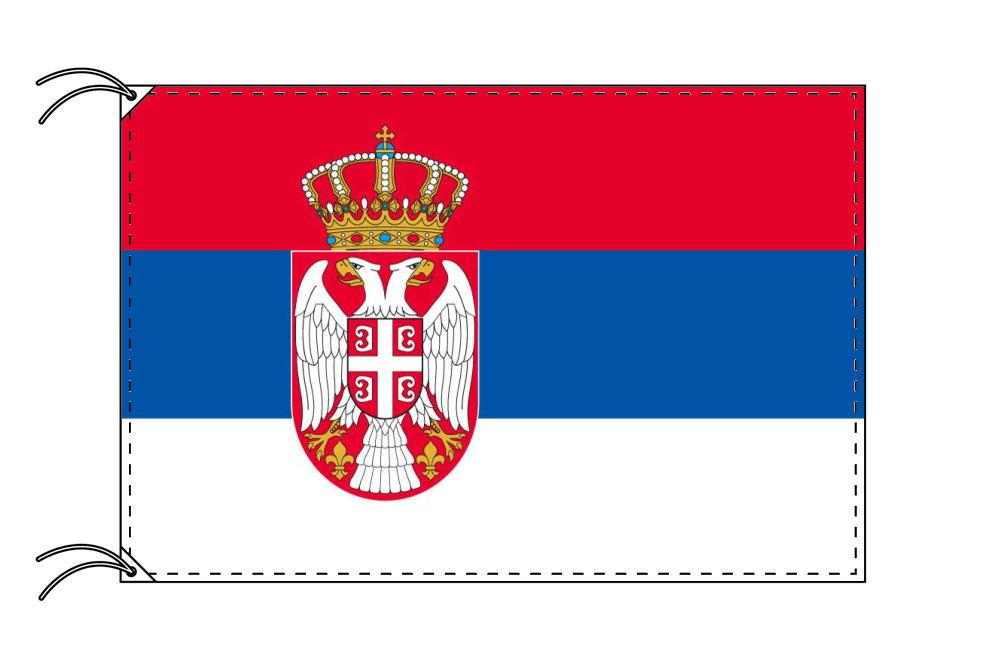 セルビア・国旗セット[DX]【アルミ合金ポール・取付部品付・テトロン国旗 サイズ70×105cm】安心の日本製