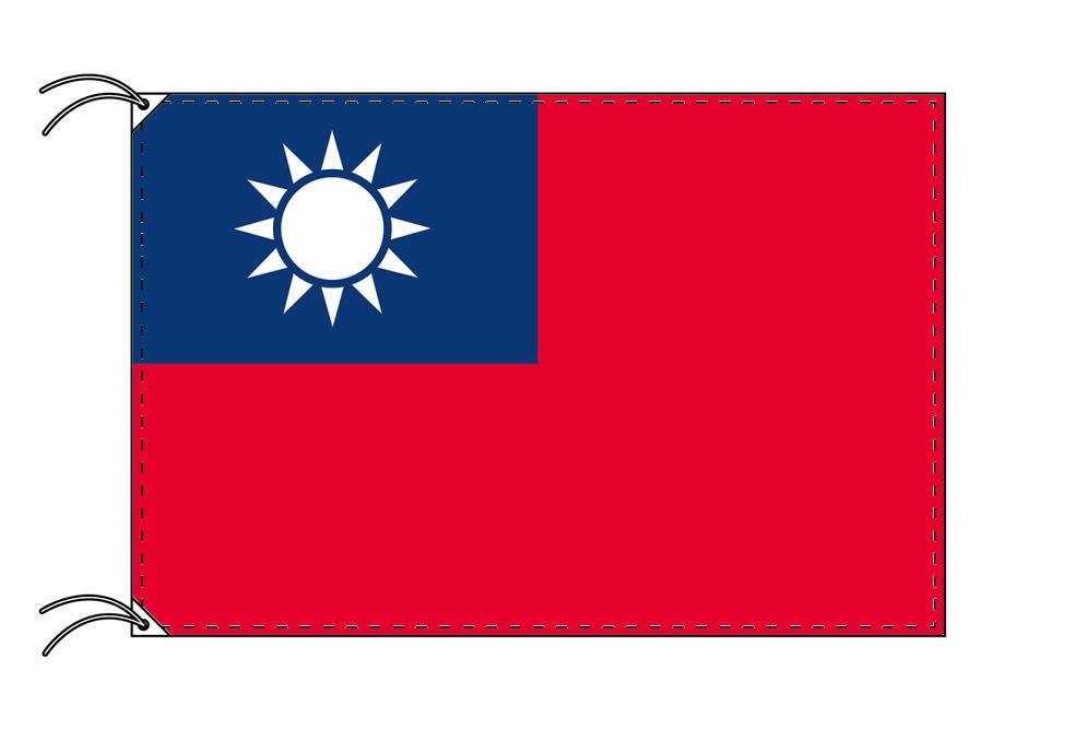 台湾[中華民国]・高級大型国旗セット(サイズ90×135cm・ポール・新型フロアスタンド付き)