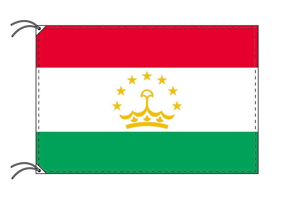 タジキスタン・国旗セット[DX]【アルミ合金ポール・取付部品付・テトロン国旗 サイズ70×105cm】安心の日本製