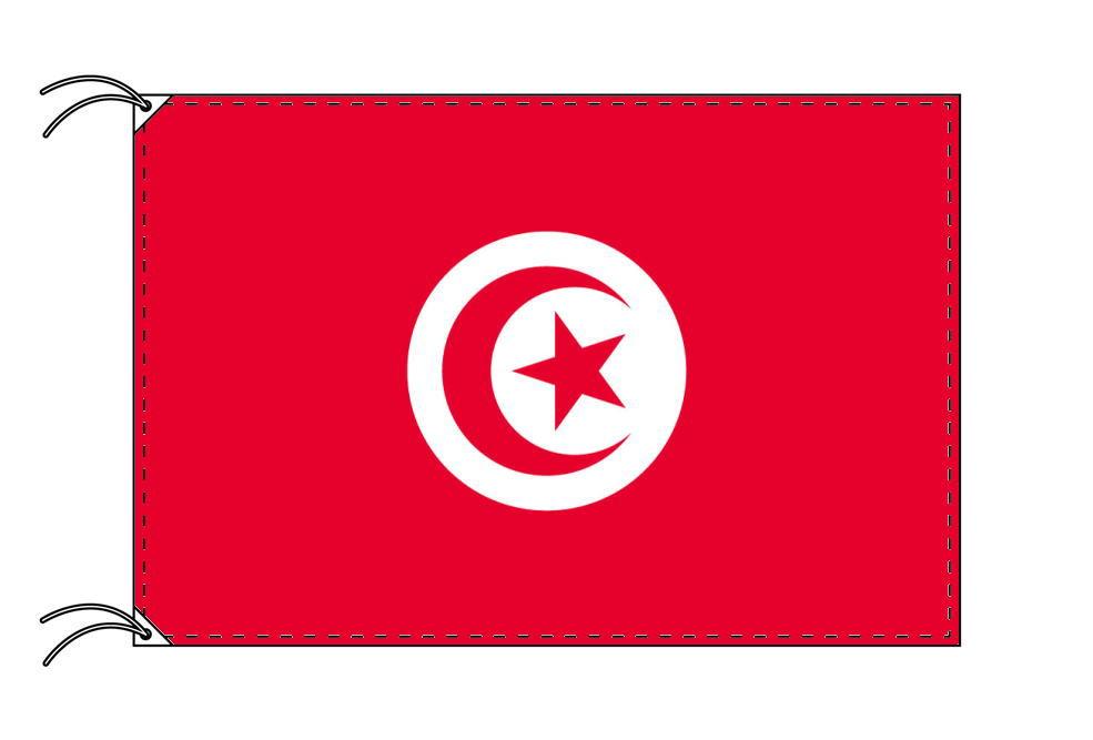 チュニジア・高級国旗セット(国旗70×105cm・ポール・竿頭・新型フロアスタンド付き)