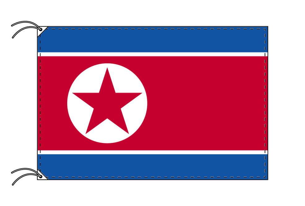北朝鮮 国旗セット[DX]【アルミ合金ポール・取付部品付・テトロン国旗 サイズ70×105cm】安心の日本製