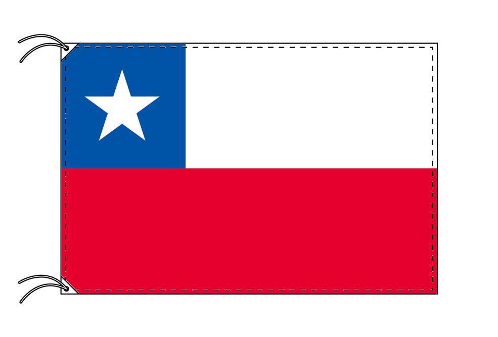 チリ・高級国旗セット(国旗70×105cm・ポール・竿頭・新型フロアスタンド付き)