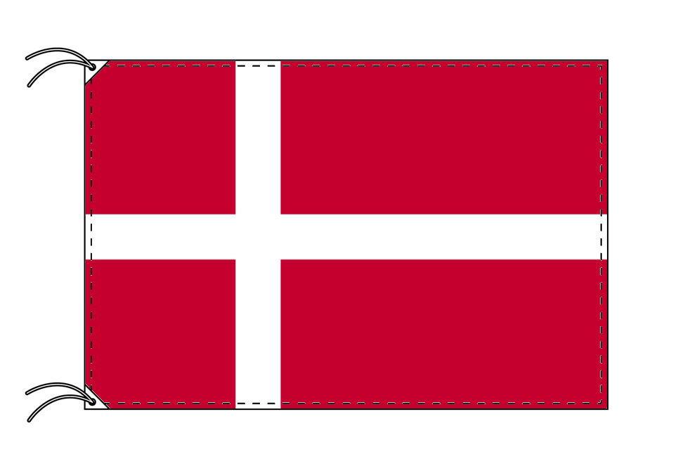デンマーク・国旗セット[DX]【アルミ合金ポール・取付部品付・テトロン国旗 サイズ70×105cm】安心の日本製