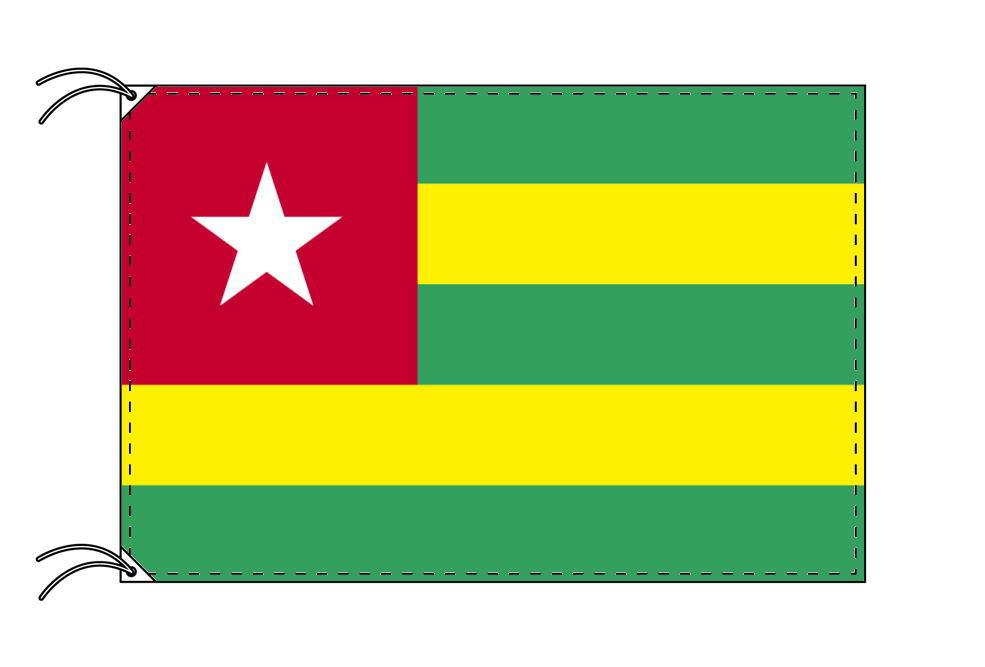 トーゴ・高級大型国旗セット(サイズ90×135cm・ポール・新型フロアスタンド付き)