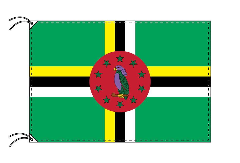 世界の国旗 ドミニカ国国旗[90×135cm・高級テトロン製]安心の日本製