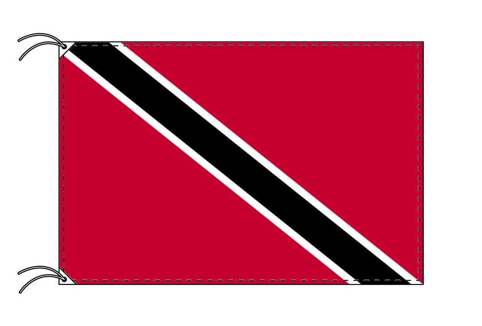 トリニダードトバゴ・国旗セット[DX]【アルミ合金ポール・取付部品付・テトロン国旗 サイズ70×105cm】安心の日本製