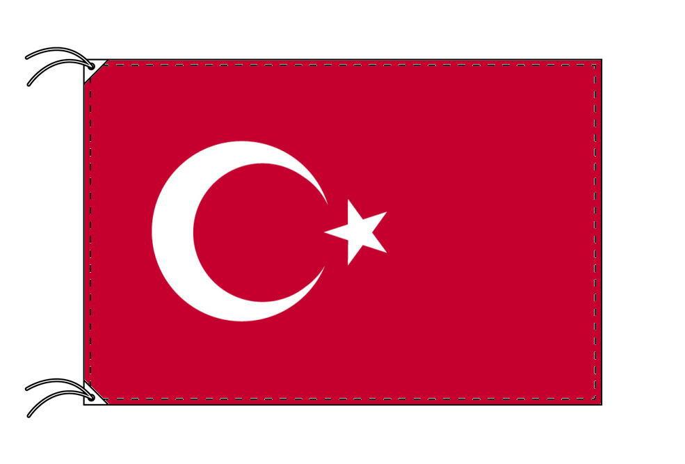 トルコ・国旗セット[DX]【アルミ合金ポール・取付部品付・テトロン国旗 サイズ70×105cm】安心の日本製