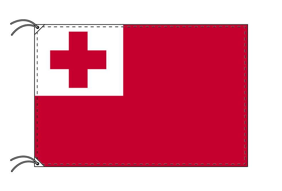 トンガ・国旗セット[DX]【アルミ合金ポール・取付部品付・テトロン国旗 サイズ70×105cm】安心の日本製