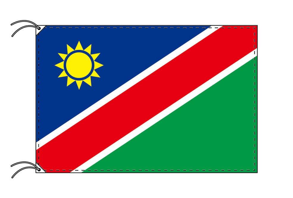 ナミビア・高級大型国旗セット(サイズ90×135cm・ポール・新型フロアスタンド付き)