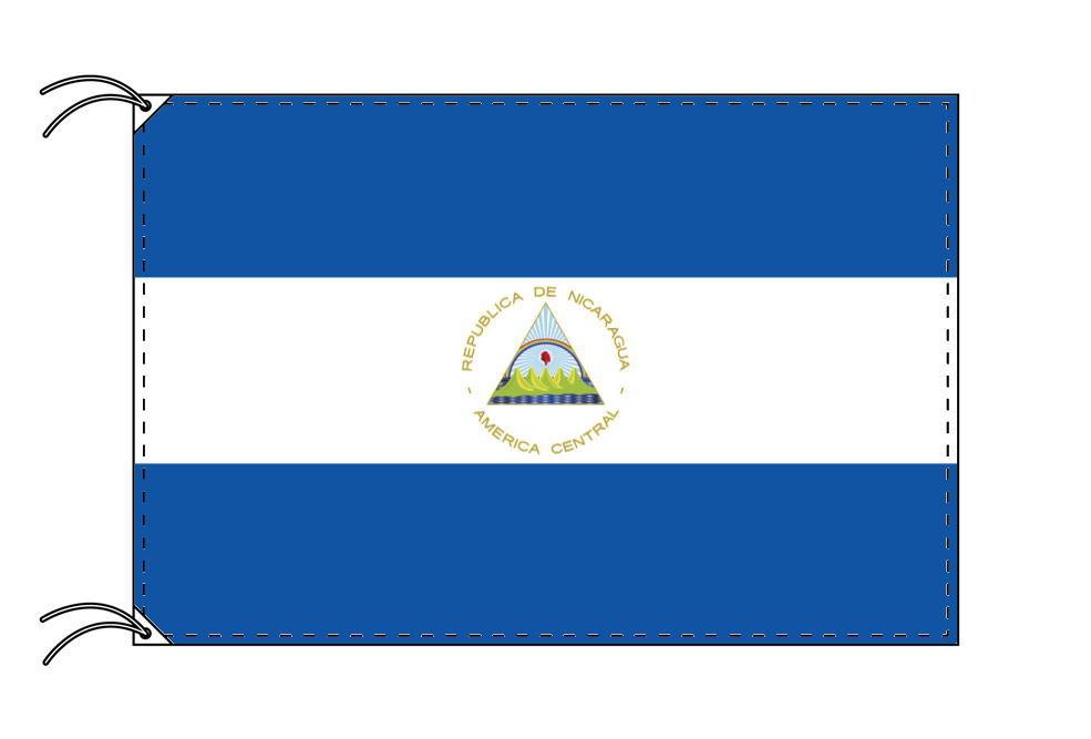 ニカラグア・国旗セット[DX]【アルミ合金ポール・取付部品付・テトロン国旗 サイズ70×105cm】安心の日本製