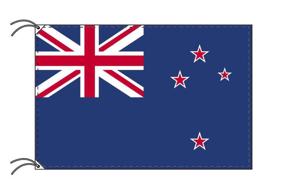 ニュージーランド・国旗セット[DX]【アルミ合金ポール・取付部品付・テトロン国旗 サイズ70×105cm】安心の日本製