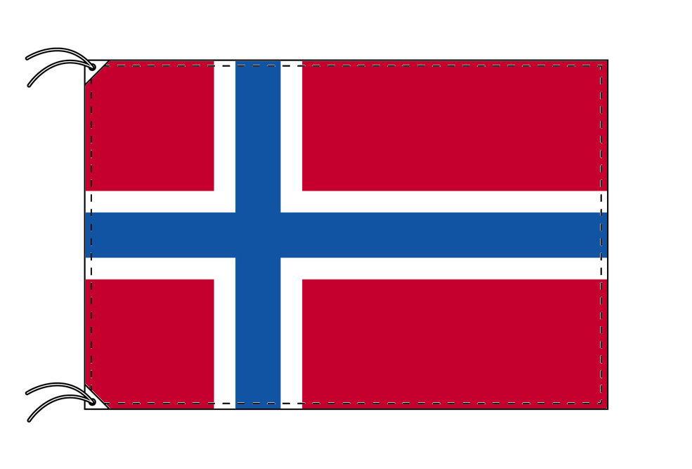 ノルウェー・国旗セット[DX]【アルミ合金ポール・取付部品付・テトロン国旗 サイズ70×105cm】安心の日本製