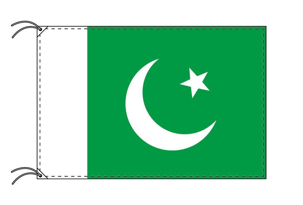 パキスタン・高級大型国旗セット(サイズ90×135cm・ポール・新型フロアスタンド付き)