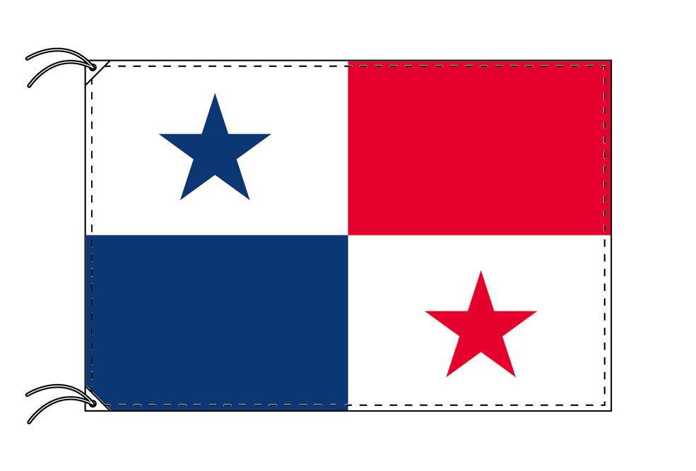 パナマ・国旗セット[DX]【アルミ合金ポール・取付部品付・テトロン国旗 サイズ70×105cm】安心の日本製