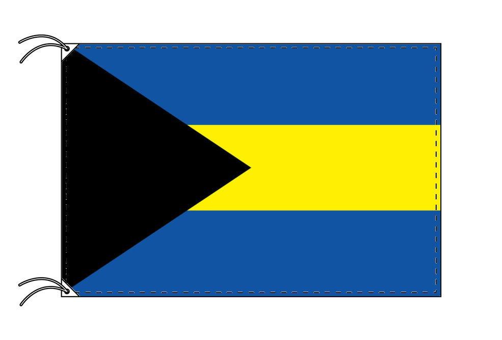 バハマ・高級大型国旗セット(サイズ90×135cm・ポール・新型フロアスタンド付き)