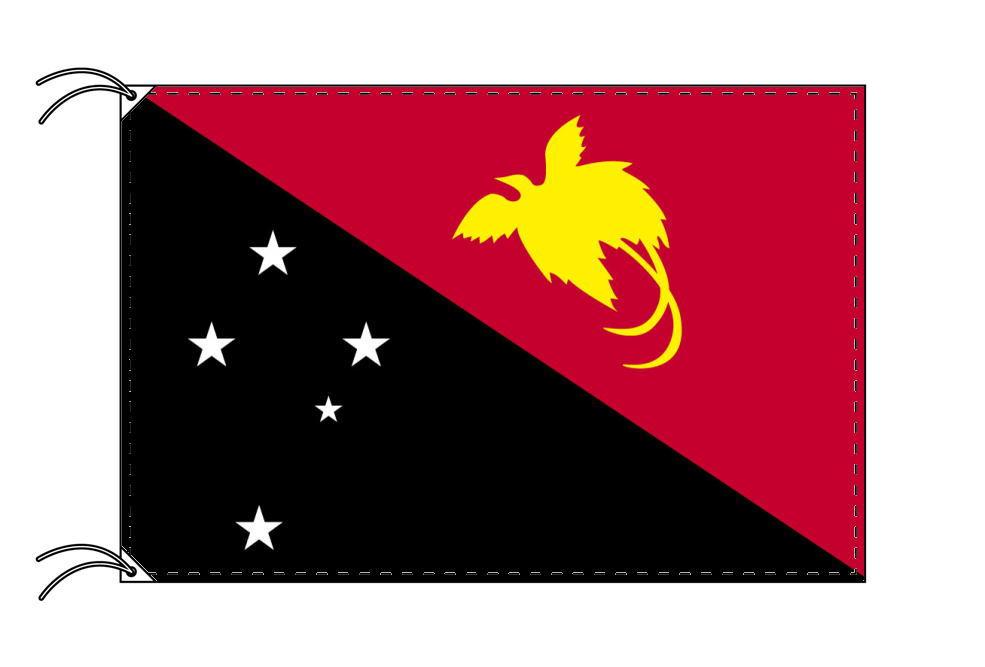 パプアニューギニア・国旗セット[DX]【アルミ合金ポール・取付部品付・テトロン国旗 サイズ70×105cm】安心の日本製