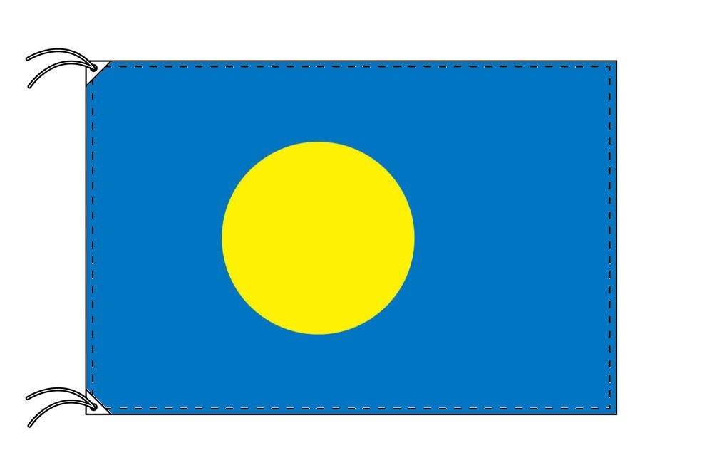 パラオ・高級大型国旗セット(サイズ90×135cm・ポール・新型フロアスタンド付き)
