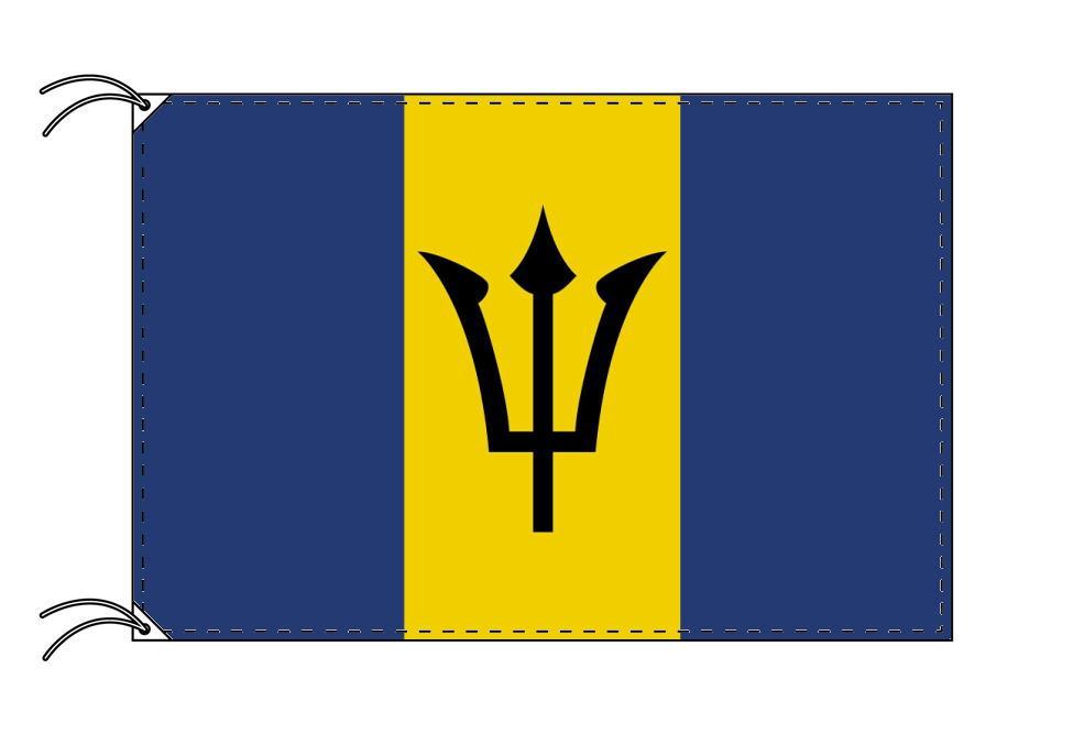 バルバドス・国旗セット[DX]【アルミ合金ポール・取付部品付・テトロン国旗 サイズ70×105cm】安心の日本製