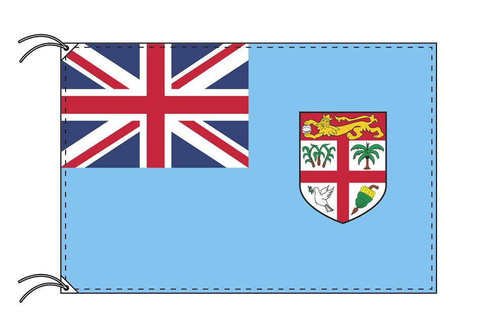 フィジー諸島・国旗セット[DX]【アルミ合金ポール・取付部品付・テトロン国旗 サイズ70×105cm】安心の日本製