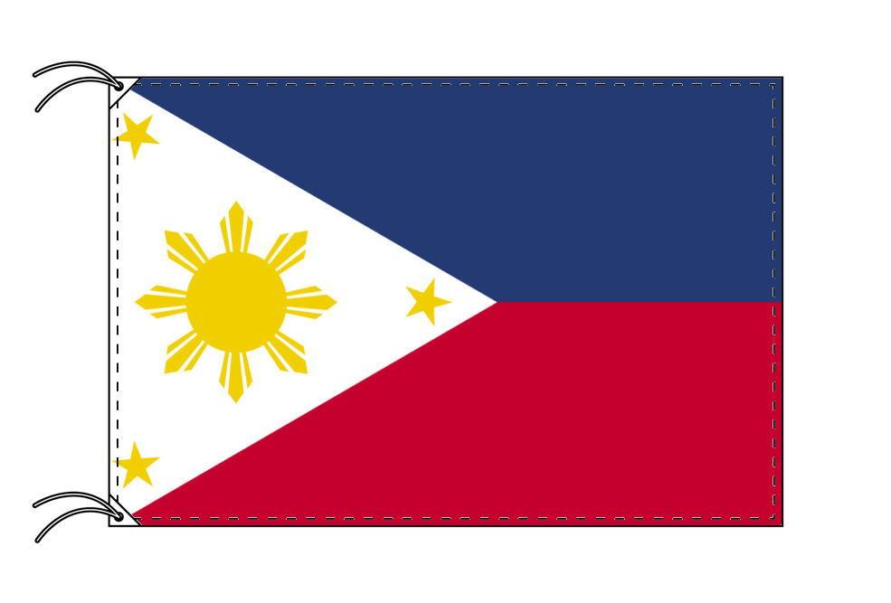 フィリピン・高級大型国旗セット(サイズ90×135cm・ポール・新型フロアスタンド付き)