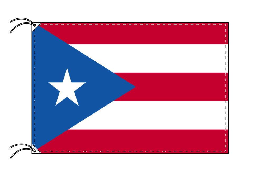 プエルトリコ・高級大型国旗セット(サイズ90×135cm・ポール・新型フロアスタンド付き)