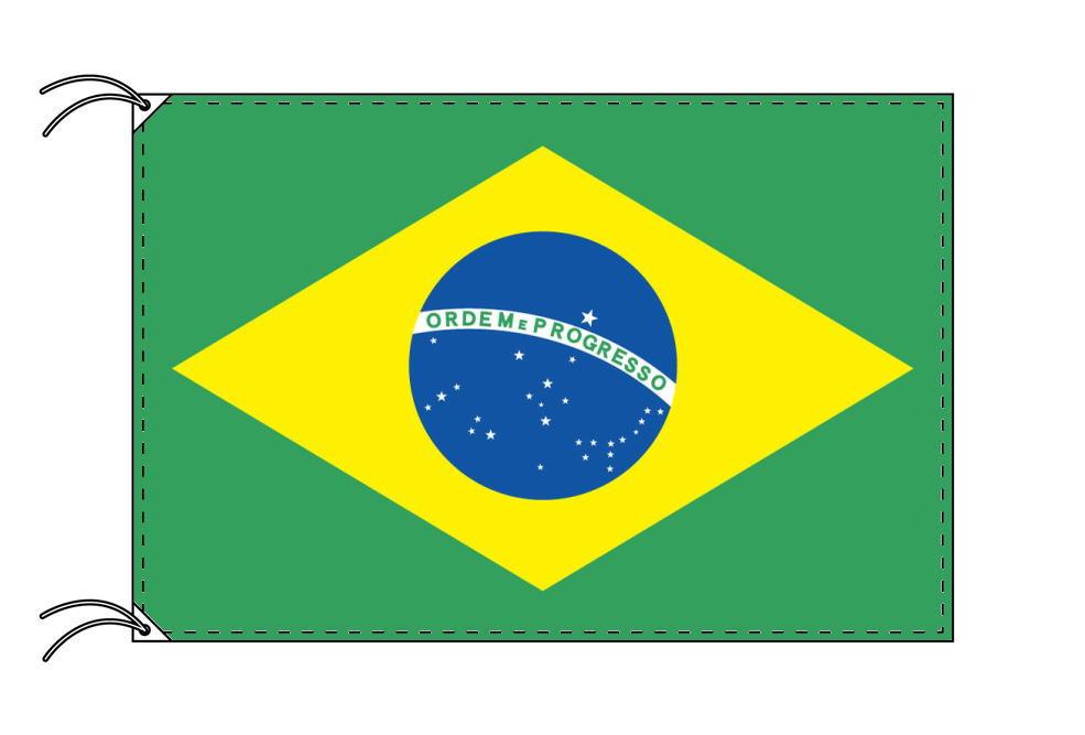 ブラジル・国旗セット[DX]【アルミ合金ポール・取付部品付・テトロン国旗 サイズ70×105cm】安心の日本製