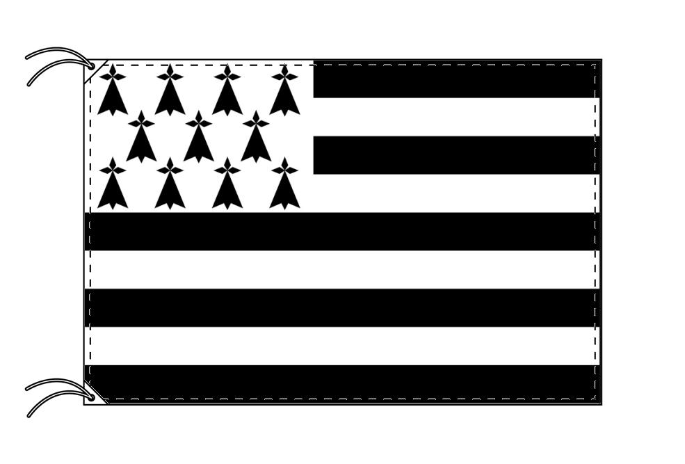 ブルターニュ地域圏 フランス地域圏の旗・州旗(90×135cm)