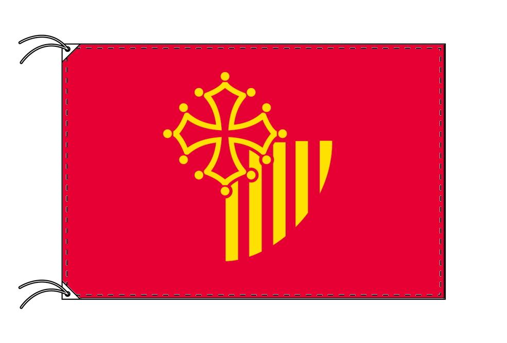 ラングドック=ルシヨン地域圏 フランス地域圏の旗・州旗(90×135cm)