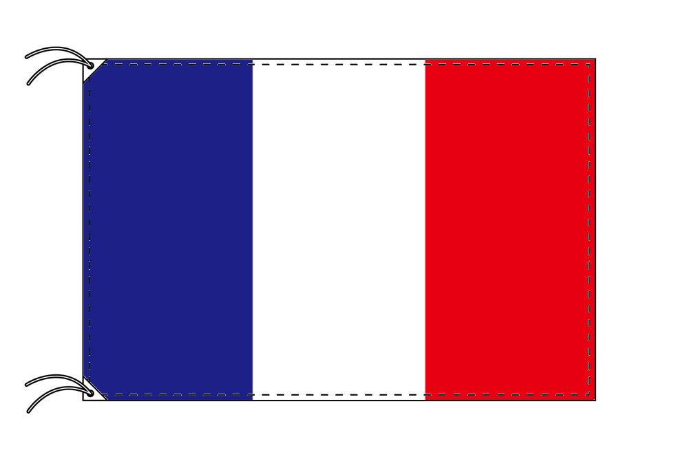 フランス・トリコロール・国旗セット[DX]【アルミ合金ポール・取付部品付・テトロン国旗 サイズ70×105cm】安心の日本製