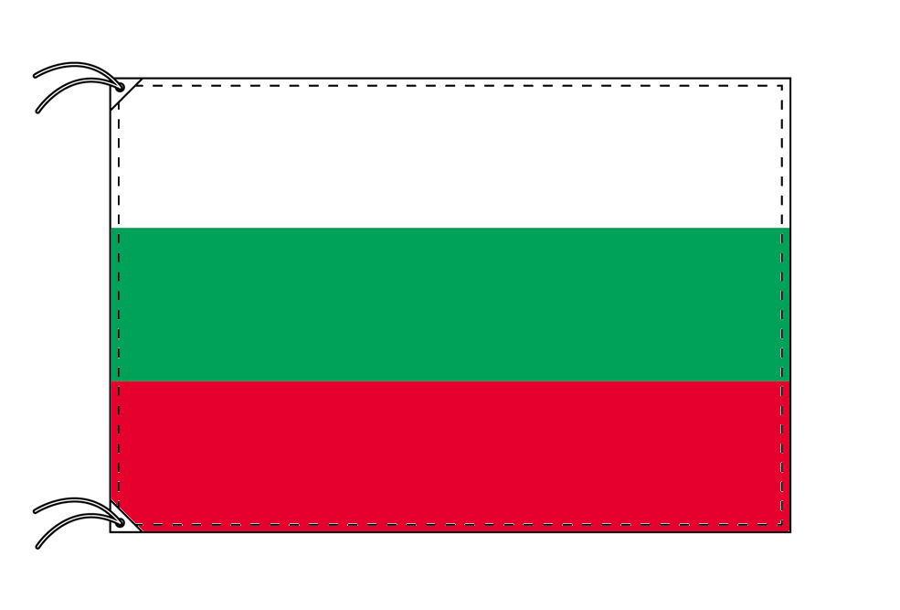 ブルガリア・国旗セット[DX]【アルミ合金ポール・取付部品付・テトロン国旗 サイズ70×105cm】安心の日本製
